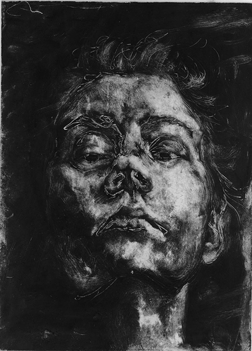 Self Portrait Monoprints Jamie Accashian